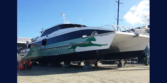 35m Catamaran Ferry Capricorn Surfer AMSA to MNZ Design, Stability and Survey